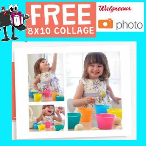 Free 8x10 at Walgreens