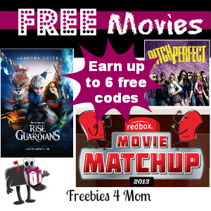 Free Redbox Codes by Playing Movie Matchup