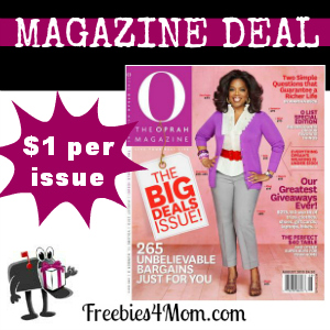 Deal $11.99 for O, The Oprah Magazine