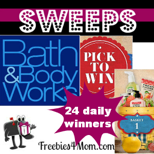 Sweeps Bath & Body Works Pick to Win (24 Daily Winners)