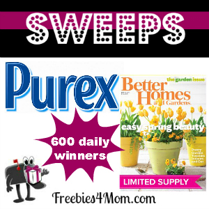 Sweeps Purex Better Homes & Gardens (600 Daily Winners)