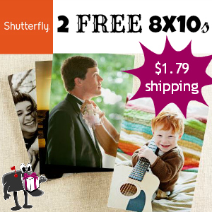 Free 8x10s from Shutterfly ($7.98 value)