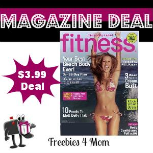Deal $3.99 for Fitness Magazine