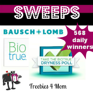 Sweeps Biotrue Dryness Poll (568 Daily Winners)