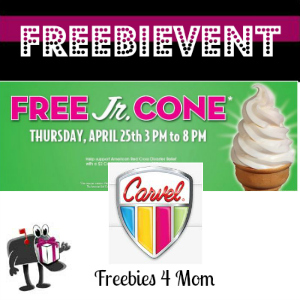 Free Jr. Cone at Carvel Ice Cream April 25