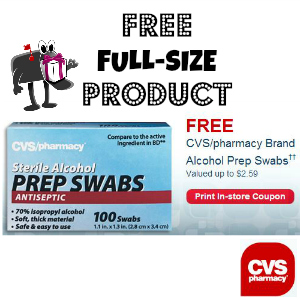 Free Prep Swabs at CVS ($2.59 value)