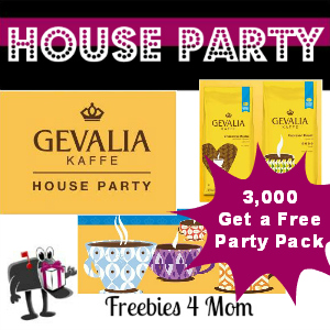 Free House Party: GEVALIA Coffee