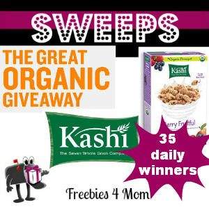 Sweeps Kashi Great Organic Giveaway (35 Daily Winners)