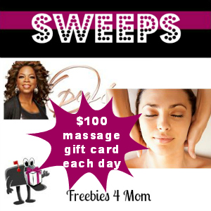 Sweeps Oprah Make Time For Me With a Massage (1 Daily Winner)