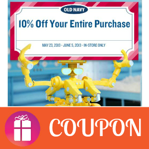 Coupon 10% off Old Navy In-Store Purchases