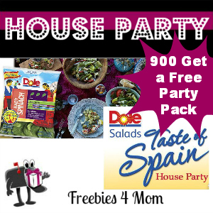 Free House Party: Dole Salads Taste of Spain