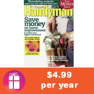 Deal $4.99 for Family Handyman Magazine