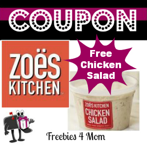 Free 1/2 Pint of Chicken Salad at Zoes Kitchen