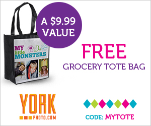 FREE York Photo Tote Bag ($3.99 shipping)