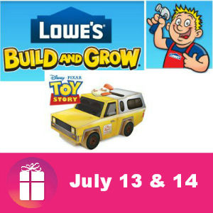 Free Kids Clinic at Lowe's July 13 & 14