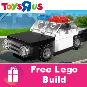 Free Lego Police Car Build at Toys R Us June 15