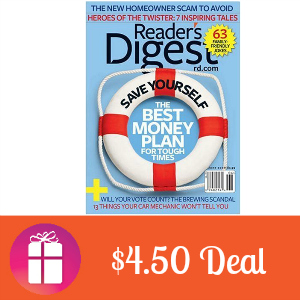 Deal $4.50 for Reader's Digest