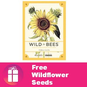 Free Burt's Bees Wildflower seeds