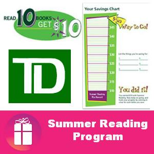 Free $10 - TD Bank Kids Summer Reading