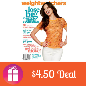 Deal $4.50 for Weight Watchers Magazine