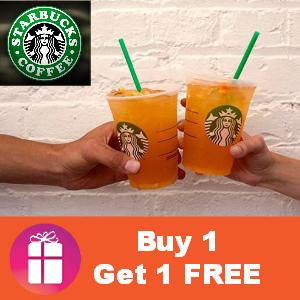 Starbucks Valencia Orange Refreshers B1G1 FREE