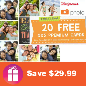 20 Free Photo Cards (Save $29.99)