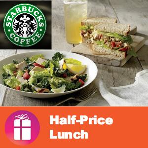 Starbucks Half-Off Lunch