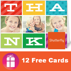 12 Free Shutterfly Thank Yous