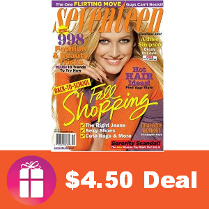 Deal $4.50 for Seventeen Magazine