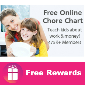 Free Online Chore Chart (with real rewards)
