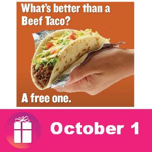 Free Beef Taco at Taco Cabana Oct. 1