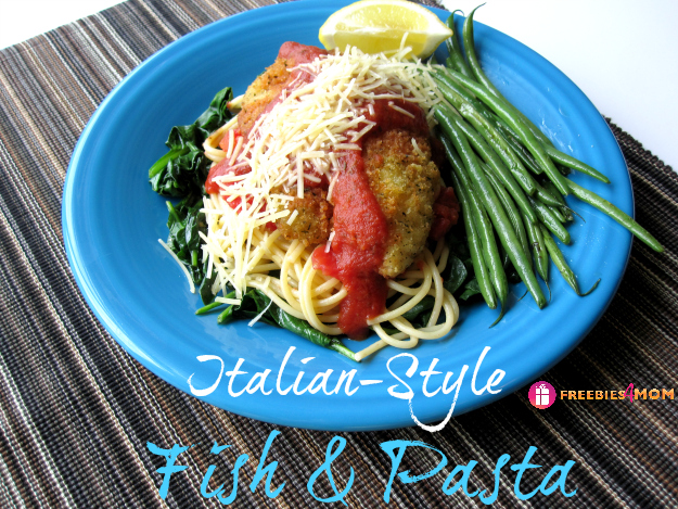Italian-Style Fish & Pasta on Spinach Recipe from Sams Club #SamsDemos #cbias #shop