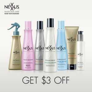 Save $3.00 off Nexxus Hair Products