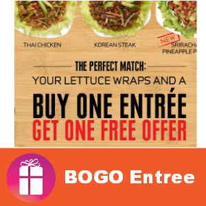 Coupon BOGO Free Entree at Pei Wei