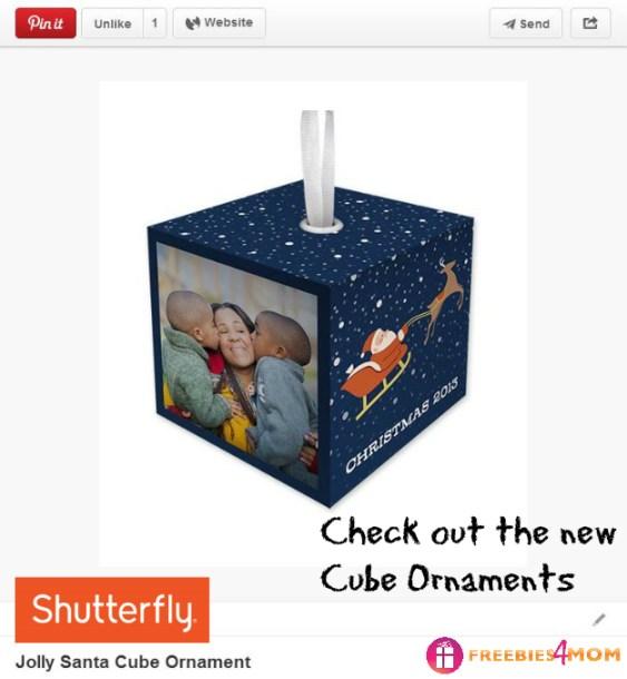 Jolly Santa Cube Ornament