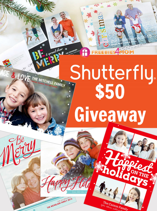 $50 Shutterfly Holiday Cards Giveaway