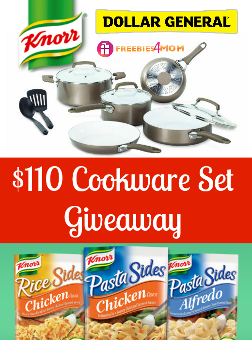 $110 Cookware Set Giveaway from Knorr Sides and Dollar General