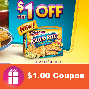 $1.00 Coupon for Jose Ole Snacks