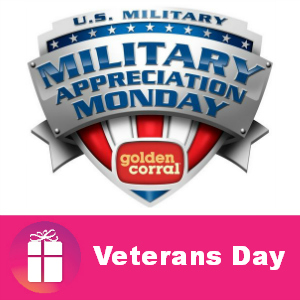 Free Meal for Military at Golden Corral Nov. 11
