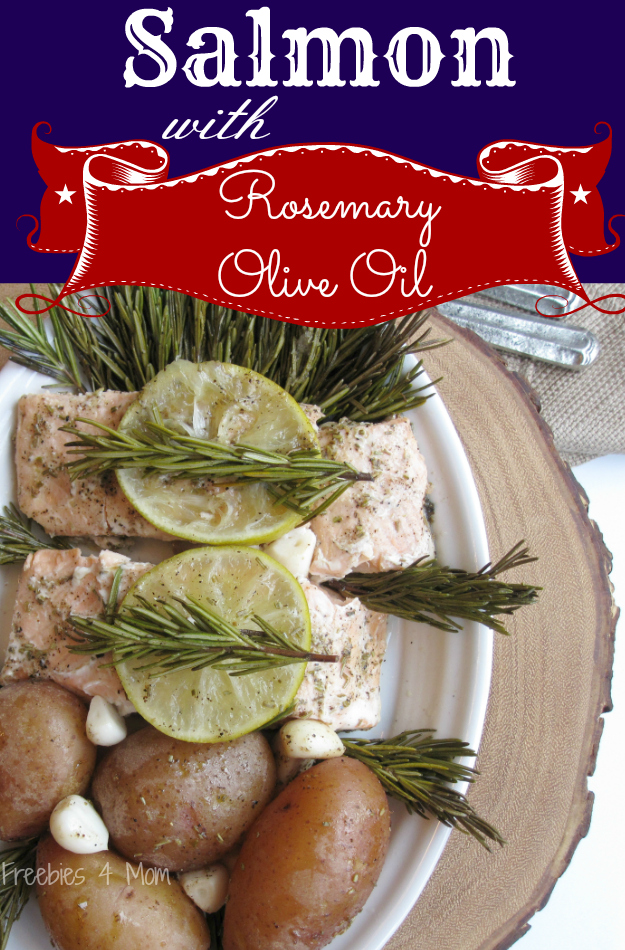 Salmon with Rosemary Olive Oil