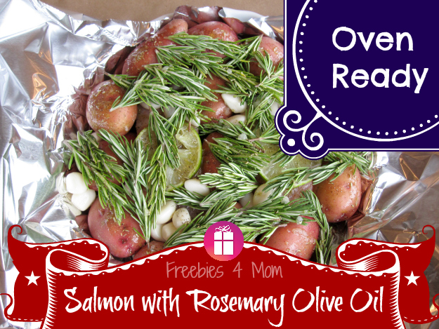 Salmon with Rosemary Olive Oil Ready for the Oven