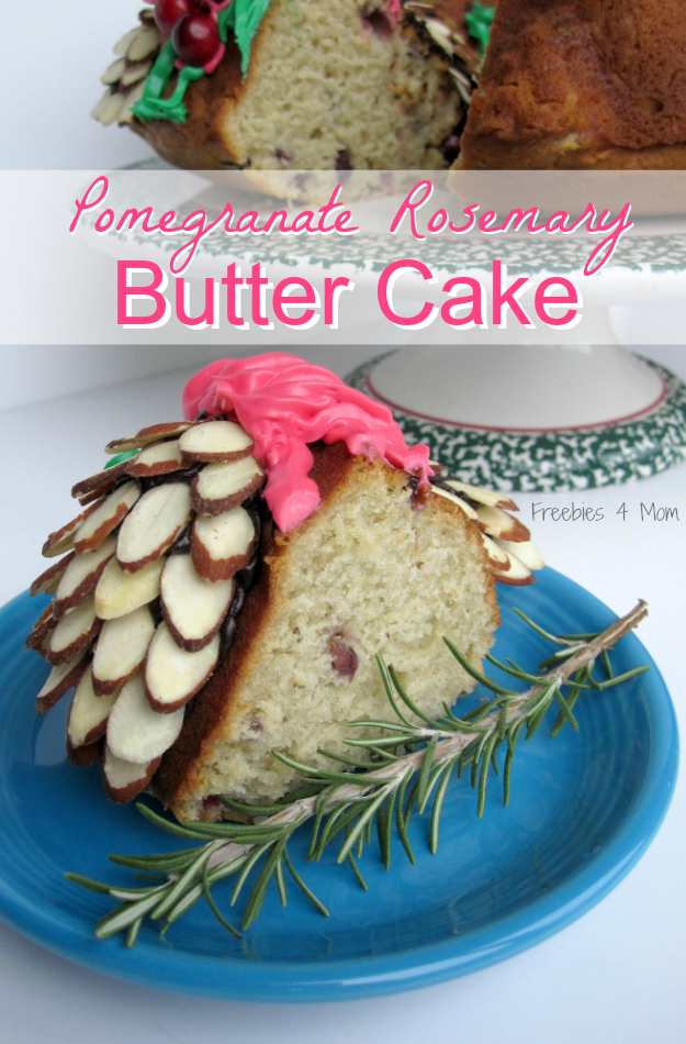 Pomegranate Rosemary Butter Cake Recipe #HolidayButter #shop