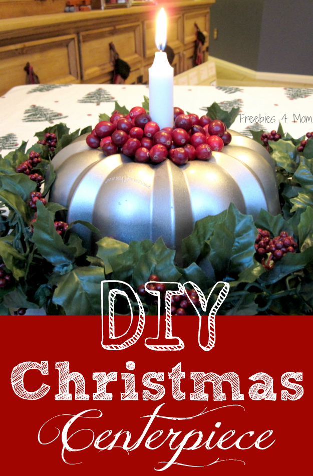 DIY Christmas Centerpiece - Bundt Pan Candle Holder