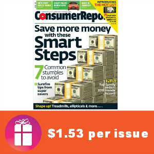 Deal $19.99 for Consumer Reports
