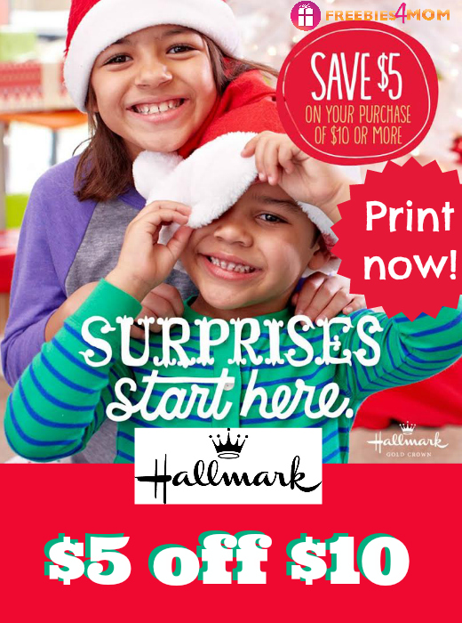 Hallmark Coupon $5 off $10