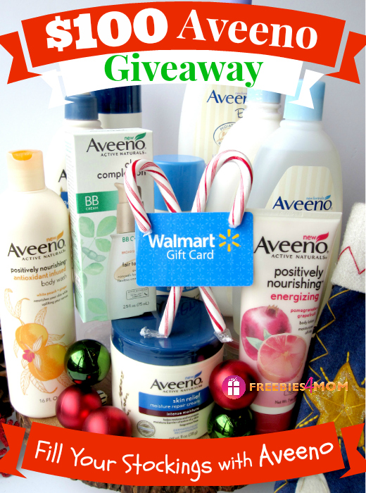 $100 Fill Your Stockings with Aveeno Giveaway