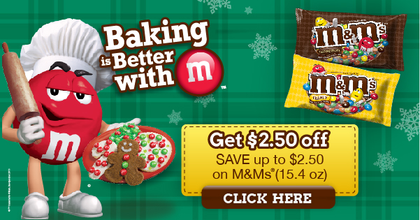 M&M's Printable Coupon: Save $2.50 #BakingIdeas #shop
