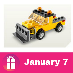 Free Snowplow Build at Lego Stores Jan. 7