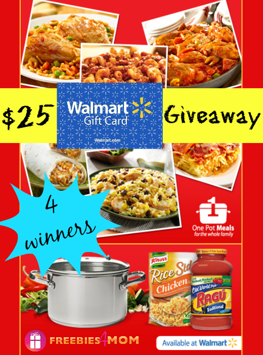 $25 One Pot Meals Giveaway