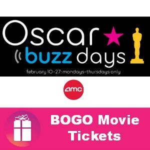 AMC Theatres BOGO Free Movie Ticket